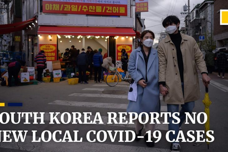South Korea reports no new domestic coronavirus cases for the first time since February