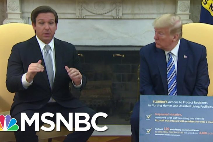 Florida Gov. DeSantis Visits White House To Discuss Re-Opening Plan With Trump