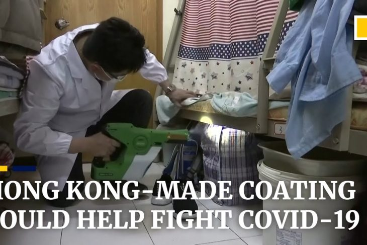 Hong Kong researchers introduce antiviral coating they say can fight the spread of Covid-19