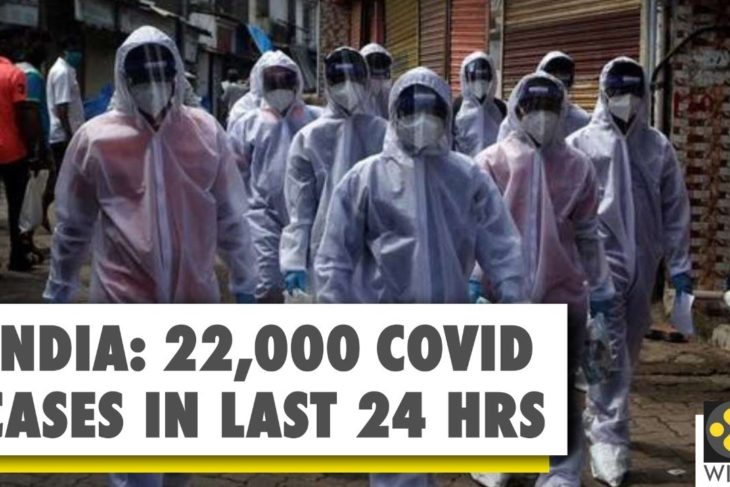 India records highest daily surge in Wuhan Virus COVID-19 cases again; 22,000 new cases in last 24 hours
