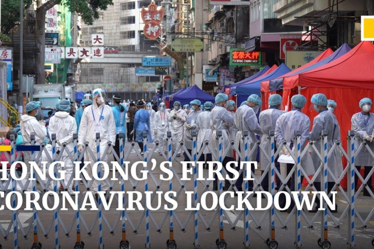 Hong Kong coronavirus lockdown: 10,000 people confined as police cordon off part of Yau Tsim Mong